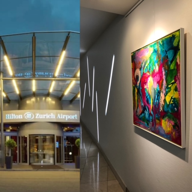 Kunstausstellung Hotel Hilton Zürich Airport